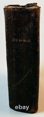 Holy Bible American Bible Society 1863 Civil War Era Antique Pocket Size