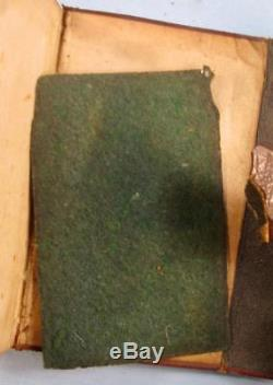 Holy Bible Pocket Antique Book 1854 American Bible Society New York Civil War O