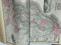 Johnson's New Illustrated Family Atlas 1863 Civil War Era GREAT CONDITION