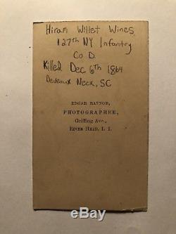 KIA New York Civil War Soldier CDV With Greatcoat