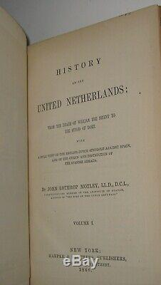LEATHER SetUNITED NETHERLANDS! First Edition 1866 States American Civil War RARE