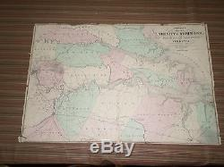 Large Johnson's Map Vicinity of Richmond-Civil war (1867) A. J. Johnson, New York