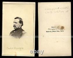 Libby Prison POW Captain Rudgers 105th NY CDV Photo ID'd Civil War Soldier