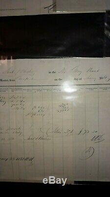 Lot Of 11 Ships Manifests & Related1847 1906, CIVIL War Era+ Cuba, New York+