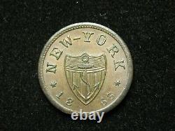 MARKED DOWN SALE! AU 1863 CIVIL WAR TOKEN NEW YORK SHIELD EDW #18c