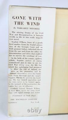 Margaret Mitchell GONE WITH THE WIND Oct 1936 1st yr DJ CIVIL WAR pulitzer prize