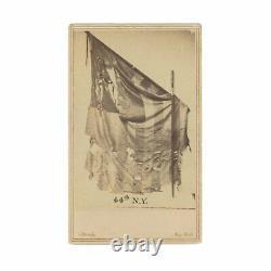 Mathew Brady Civil War CDV Battle-Tattered Flag of 44th New York Volunteers