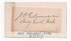 Medal of Honor Recipient Civil War John C. Gilmore 16th N. Y. Nice Signatu