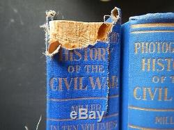 Miller's The Photographic History Of The CIVIL War In Ten Volumes 1911