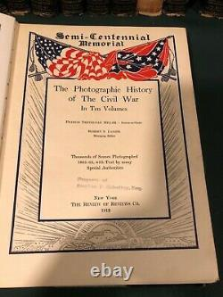 Millers Photographic History of the Civil War Volumes 1-10 (rare complete set)