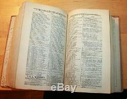 NEW YORK CITY DIRECTORY 1865-1866 BOOK JOHN TROW PUB. Ads 1400+ pages Civil War