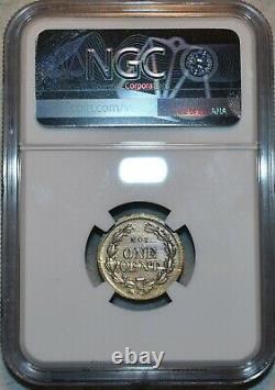 NGC MS-65 Monk's Metal Signs German Silver Civil War Token, NY-630BB-5j, R-9