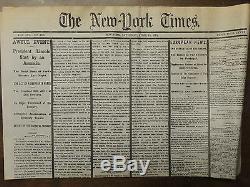 NINE REPRINTS 1862 1863 1864 1865 Era NEW YORK TIMES CIVIL WAR NEWSPAPERS
