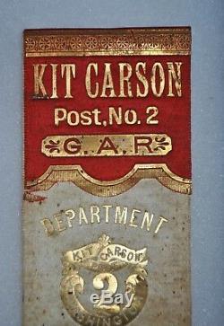 NY 47th Infantry Civil War Veteran Grouping, Frank A. Butts Kit Carson, Post