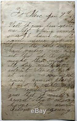 NY Orleans County / 25 original Civil War letters from William Shaw 8th Cav