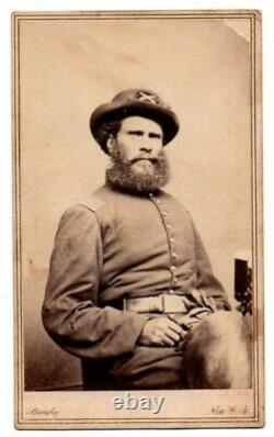 NYC New York City Civil War Soldier Hat Jacket Coat Mathew Brady CDV Photo