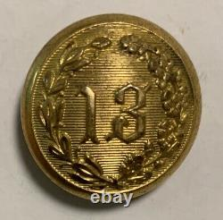 New York 13th Militia Civil War Coat Button