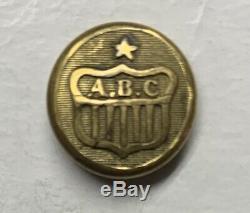 New York Albany Burgesses Corp Civil War Cuff Button