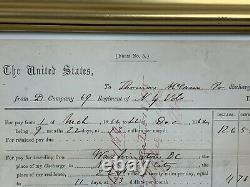 New York CIVIL WAR DISCHARGE Disabled UNION Injured Antietam A898