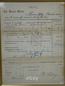 New York CIVIL WAR DISCHARGE Disabled UNION Injured Antietam A899