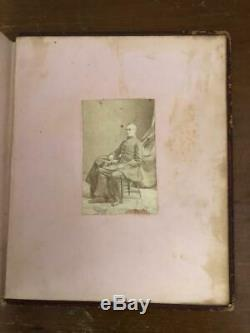 New York City Handwritten Memory Album 1860s Civil War Soldiers Photos Drawing