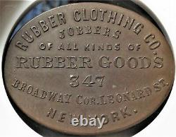 New York City Rubber Clothing Co Civil War Store Card NY 630BIa-1Ha NGC MS62