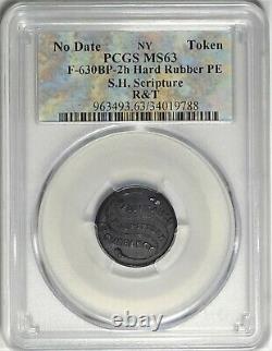 New York City S. H. Scripture Civil War Store Card Token NY 630BP-2h Hard Rubber
