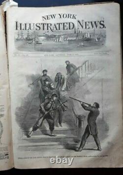 New York Illustrated News Civil War Newspaper Magazine Lincoln Nast 1-6 1861