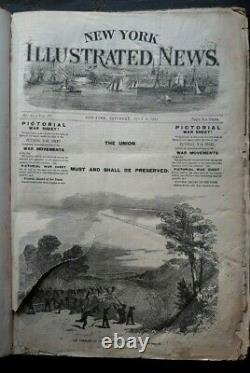 New York Illustrated News Civil War Newspaper Magazine Lincoln Nast 7-12 1861