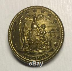 New York Militia Civil War Coat Button