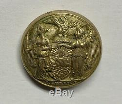 New York Militia Coat Civil War Button
