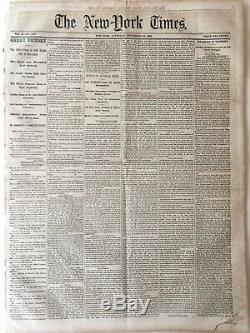 New York Times, Sep 20 1862, Civil War Battle of Antietam