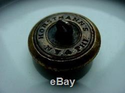 Non-Dug Civil War Confederate Louisiana Coat 1 BRASS Button Horstmann's NY PHI