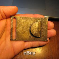 Non Dug New York Civil War Cast Brass Sword Belt Plate Buckle