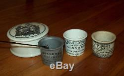 ONE of a KIND! Gray HOLLOWAY'S OINTMENT JAR c. A. American Civil War New York