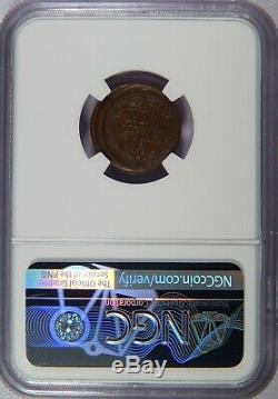 Off Center 1863 F-22/442 a New York Civil War Token NGC AU-58