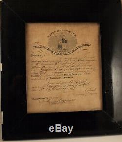 Original 1867 Civil War Discharge New York 7th Regiment Silk Stocking Brigade