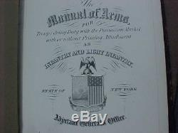 Original CIVIL War Era 1858 Ny Percussion Musket Manual Of Arms