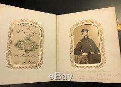 Original Civil War Book of 32 CDV & Tin type Photos Photographs Soldiers NY MA
