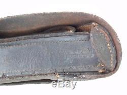 Original Civil War Cartridge Box, Plate, Tin. STORMS N. Y