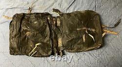 Original Civil War Tarred Cloth/Canvas Backpack New York 123rd Vol Infantry 1864