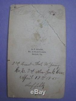 Original Civil War Trunk. New York 3rd Cavalry. 2nd Lt. Thomas W. Goring, Named