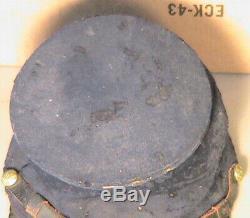 Original Civil War Union Bummers Cap with Paper Makers Label J&S No. 4 NY