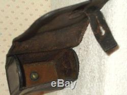 Original Civil War Union Leather Artillery Fuse Box -Marked US Navy Yard NY 1864