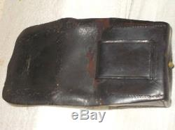 Original Civil War Union Leather Artillery Fuse Box -Marked US Navy Yard NY 1864