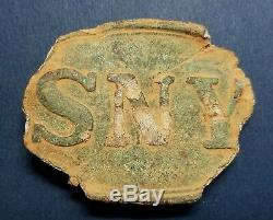 Original Dug SNY Plate New York Union Civil War Belt Buckle