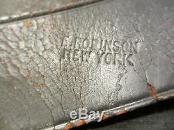 Original Us CIVIL War Union Infantry Soldier Knapsack 1864 Dated Robinson Ny