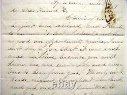 Otisco New York CIVIL War Solider Letter Henry H Hitchcock