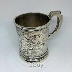 Outstanding Albert Coles & Co. NY 1860's Civil War Era Coin Silver Cup