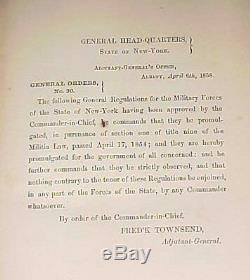 PRE CIVIL WAR 1858 GENERAL REGULATIONS NEW YORK STATE MILITIA 12th REGIMENT